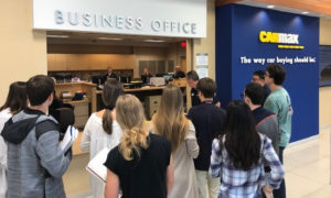 Third-year McIntire students visit ICE corporate partner CarMax.