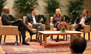 Panelists discuss what it means to compete in Europe during McIntire's 2016 Fall Forum.